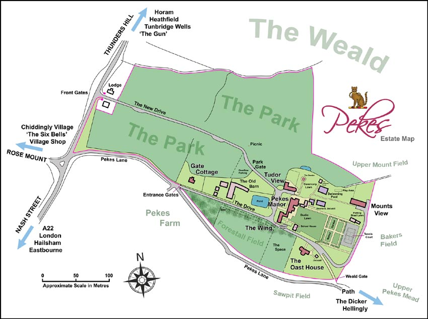 Pekes Manor Estate Map