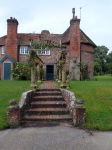 The Oast House on the Pekes Manor Estate. A view of the entrance.