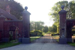 The Pekes Manor Estate. The main gates.