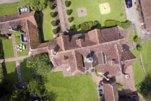 The Pekes Manor Estate. The Manor House and the adjoining Wing, from directly overhead.