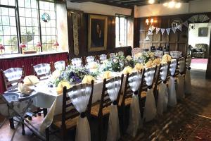 Weddings & Celebrations at Pekes Manor. The dining room in The Manor.